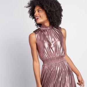 ModCloth Metallic A-Line Dress